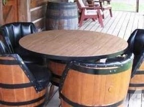 Whiskey barrel table and chairs mt juliet hermitage for sale