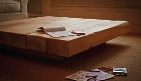 Ica 6 Beam Large Square Oak Coffee Table In A