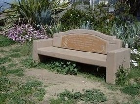 Concrete memorial benches
