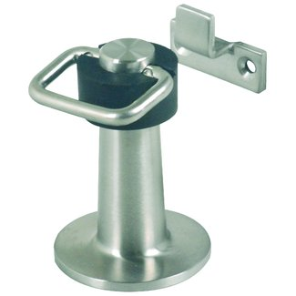 Door stopper floor mounted heavy duty with catch
