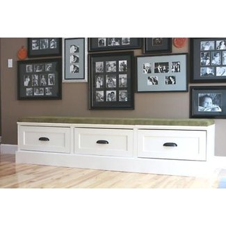 Drawer bases turned banquette