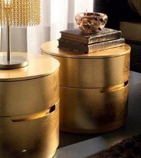 Gold nightstands 5