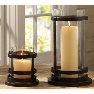 Iron glass candle hurricane large traditional candles and candle