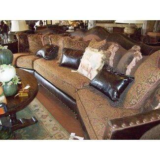 Leather And Fabric Mix Sofas