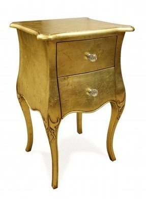 Luxurious gold contemporary nightstands and bedside tables