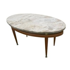 small marble top table foter. Black Bedroom Furniture Sets. Home Design Ideas