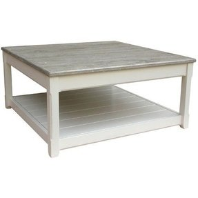 Oversized square coffee table