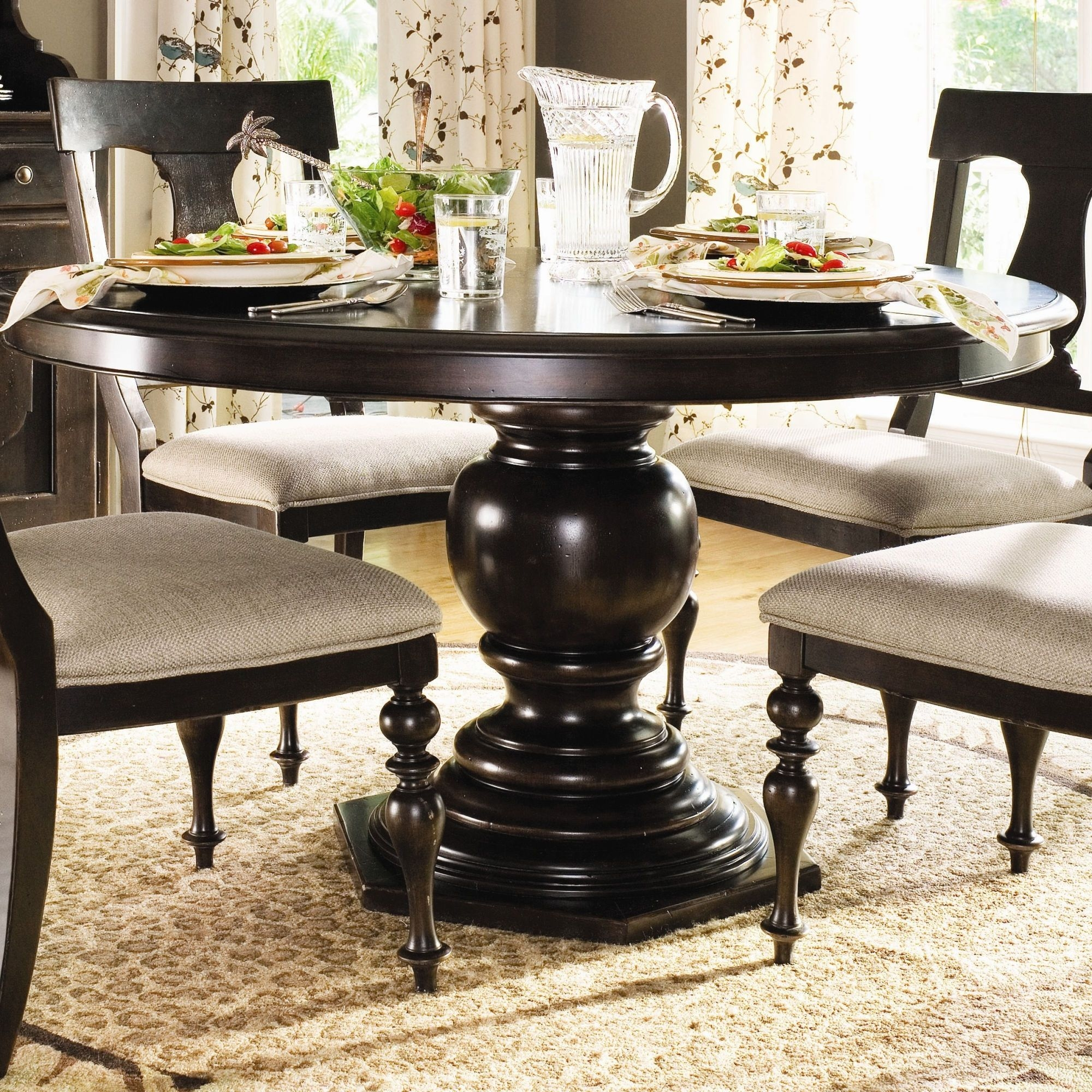 Round Dining Table Pedestal Base 1