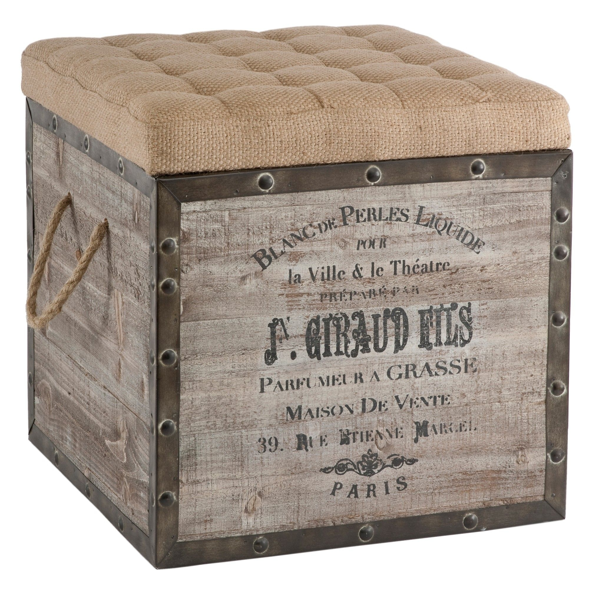 Charmant Rustic Ottomans   Foter