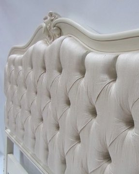 St tropez collection swarovski crystal and ivory silk headboard