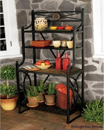 Charmant Wrought Iron Bakers Rack Outdoor   Ideas On Foter