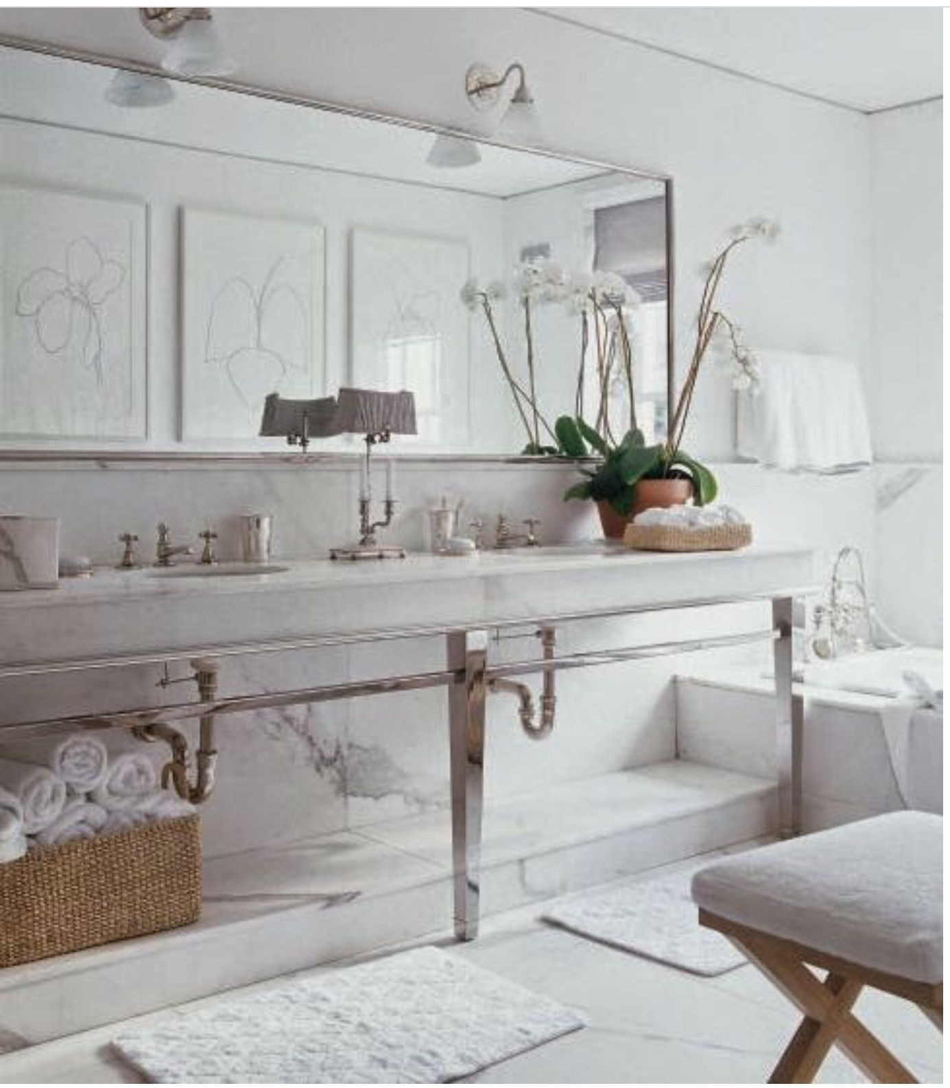 Lovely Bathroom Element The Metal Vanity Console