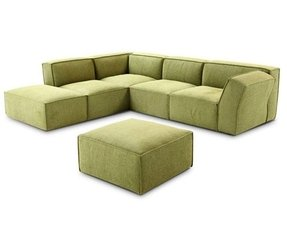 Green sectional sofa with chaise 1