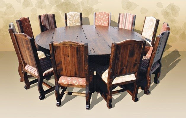 Large Dining Room Table Seats 20 Round Dining Table Seats