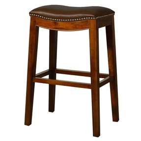 New counter stool saddle brown leather traditional bar stools and