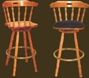 Oak colonial bar stools