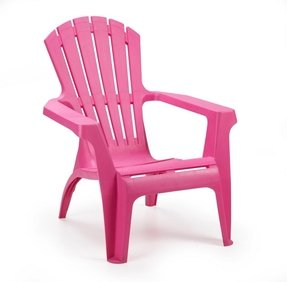 Patio With This Wonderful Bright Pink Resin Garden Chair The