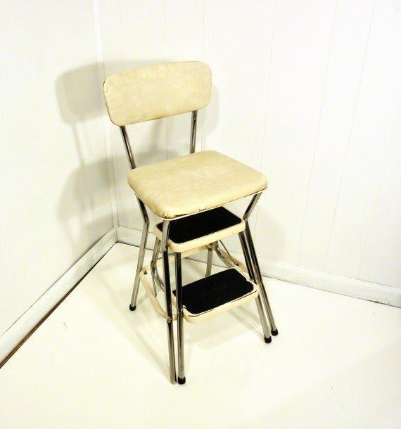Retro Cosco 50s Vintage Step Stool Kitchen Stool Chair