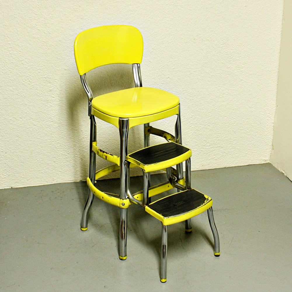 Merveilleux Vintage Cosco Stool Step Stool Kitchen Stool Chair Fold Out