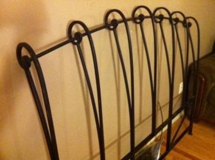 Perfect 100used Wrought Iron Headboard Queen Size From Pier1 In Mastic