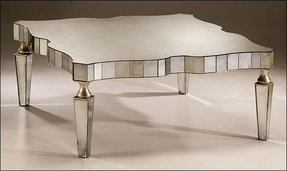Antiqued Mirrored Coffee Table - Foter