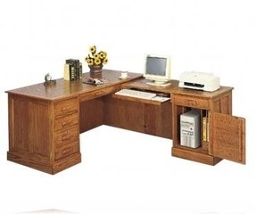 Executive L Shape Oak Desk