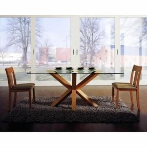 Wood Dining Table With Glass Top Ideas On Foter