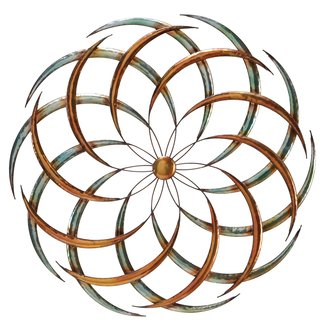 Large contemporary abstract art wall hanging round iron decor metal