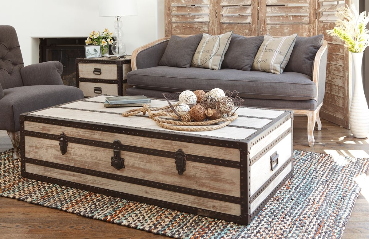 Merveilleux Large Trunk Coffee Table