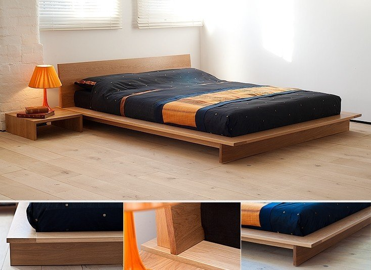 Beau Low Profile Wood Bed Frame
