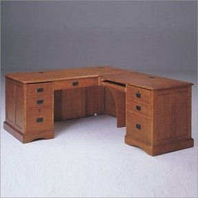 Oak L Shaped Desk