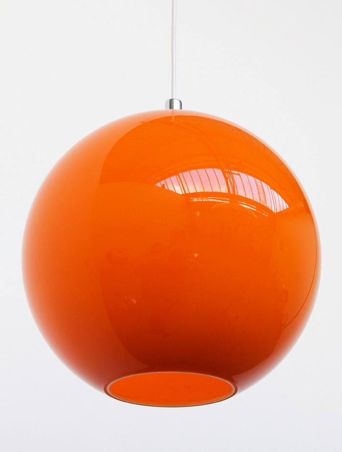 Orange Glass Lamp 4