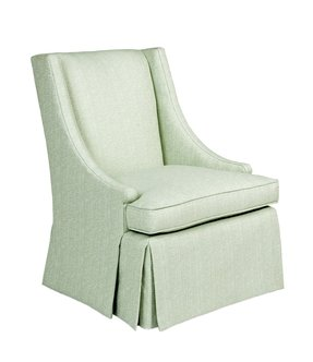 Pearson skirted sloped arm chair