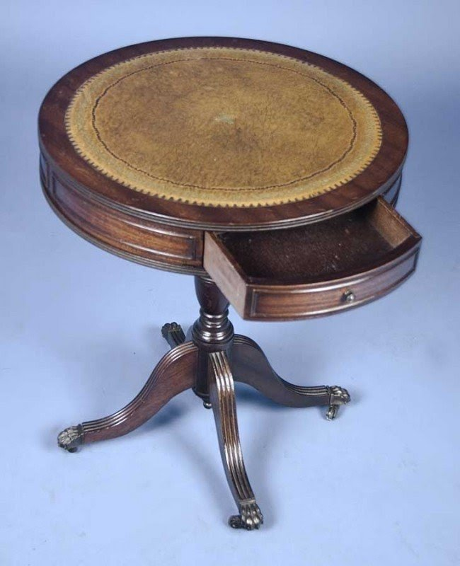 Round Drum End Table 3