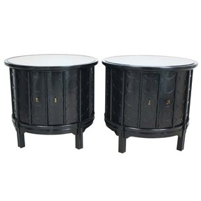 Round drum end table 8