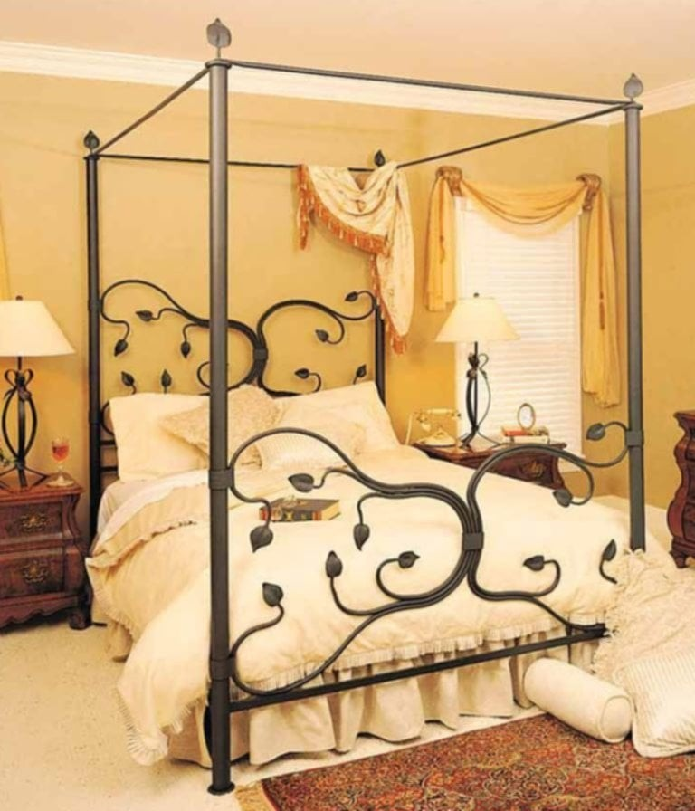 Samani wrought iron canopy bed & Wrought Iron King Size Headboards - Foter