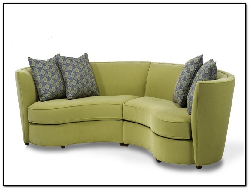 small curved couch ideas on foter rh foter com small curved leather sectional sofa