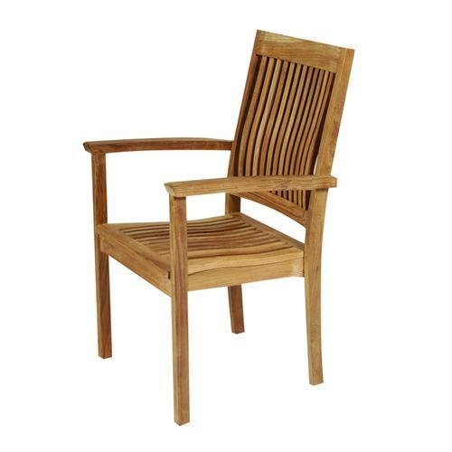 Wood Outdoor Arm Chairs 5