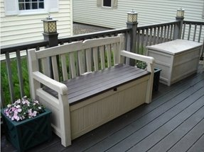 Balcony storage box