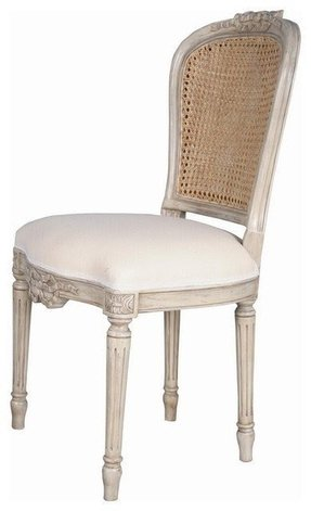 Ribbon Back Kitchen Chairs In Off White