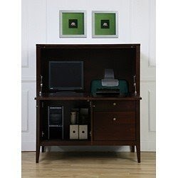 New Solid Wood Secretary Styl E Computer Armoire Workstation Desk
