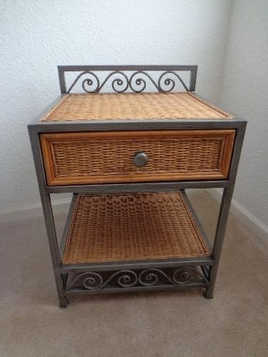 Rattan night tables