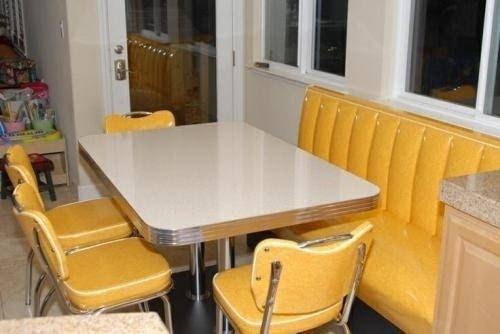 Retro Kitchen Chairs Yellow