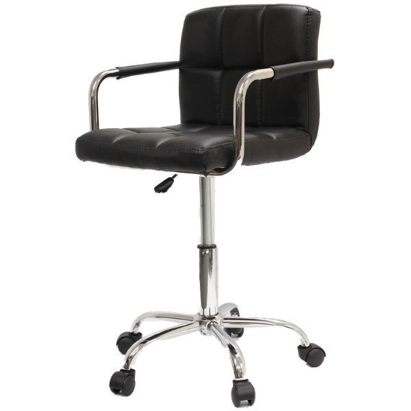 Swivel Chair Stool Roller Wheels With Arms Computer Salon Office