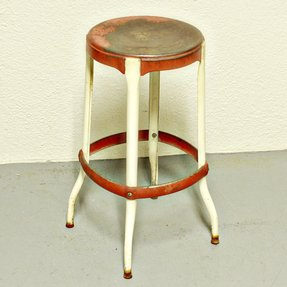 Vintage stool kitchen stool chair red