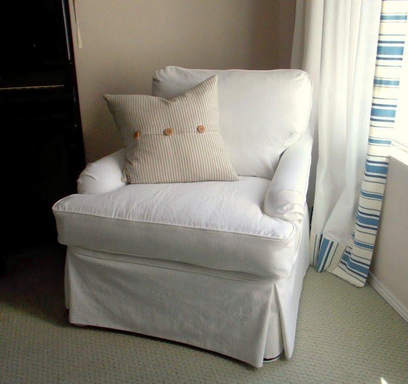 Great White Denim Club Chair