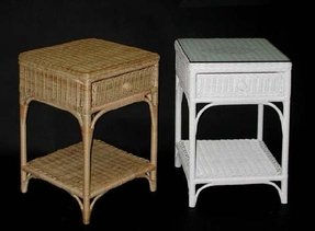 Wicker traditional nightstand 1 drawer