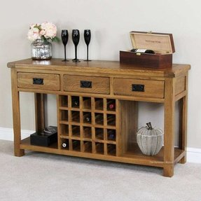Wine rack buffet table
