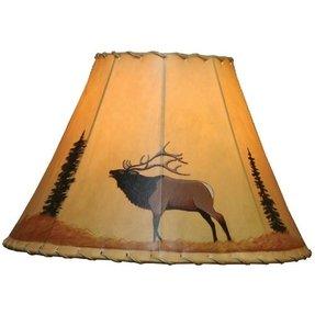 Moose lamp shade foter blowing elk rawhide lamp shade aloadofball Gallery