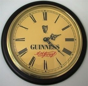 Check guinness clock to see what time it is in